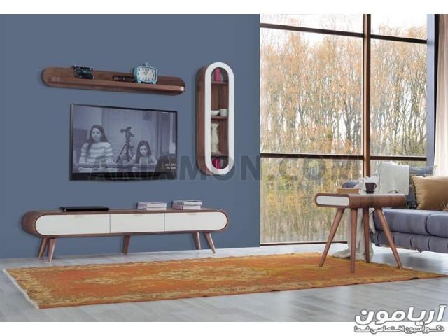 میز LCD چوبی گرد TS161