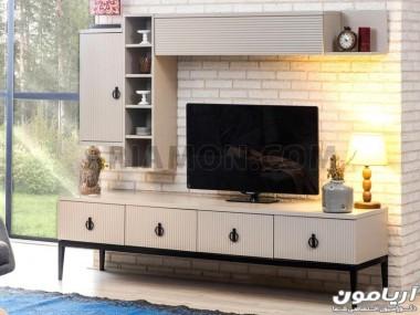 میز تلویزیون شبکه ای سفید TS164