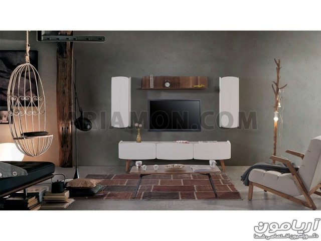 میز تلویزیون ال سی دی مدرن سفید TS168