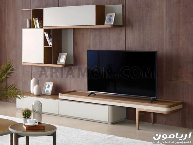 میز تلویزیون دو تکه ام دی اف بزرگ
