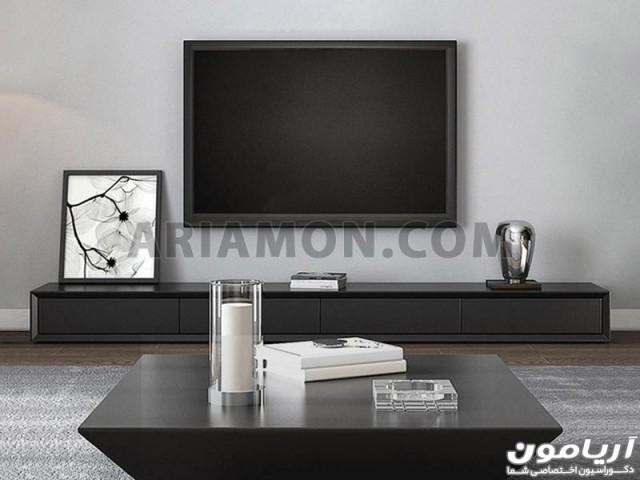 میز تلویزیون مشکی مدرن ساده