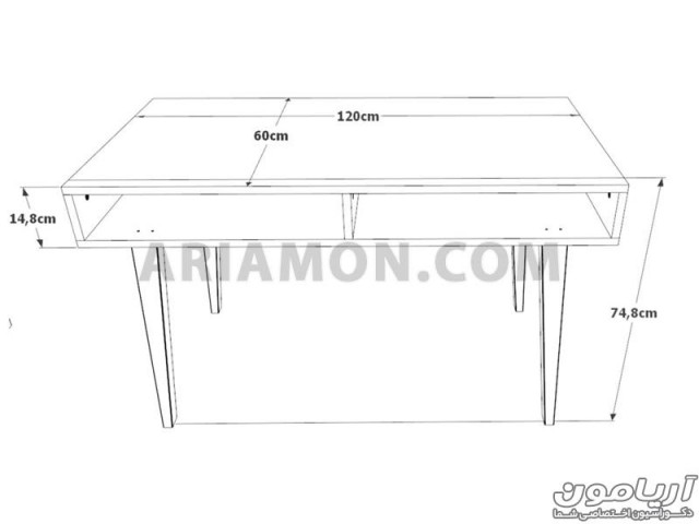 میز تحریر سفید WD125