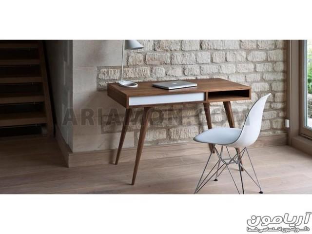 میز کامپیوتر چوبی ساده