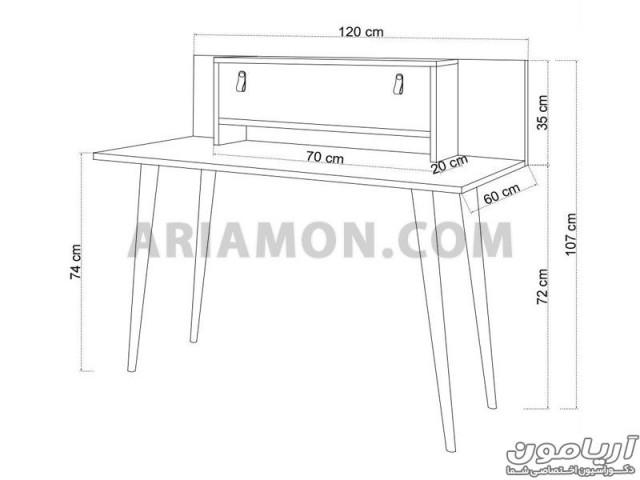 میز تحریر ایستاده WD135