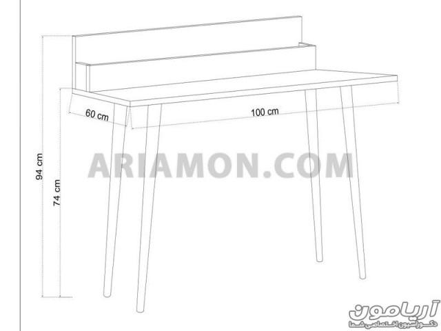 میز تحریر و جاکتابی WD136