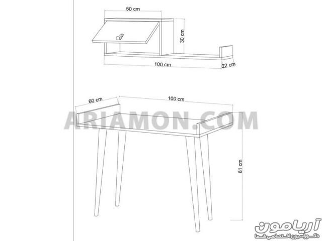 میز تحریر لبه دار WD137